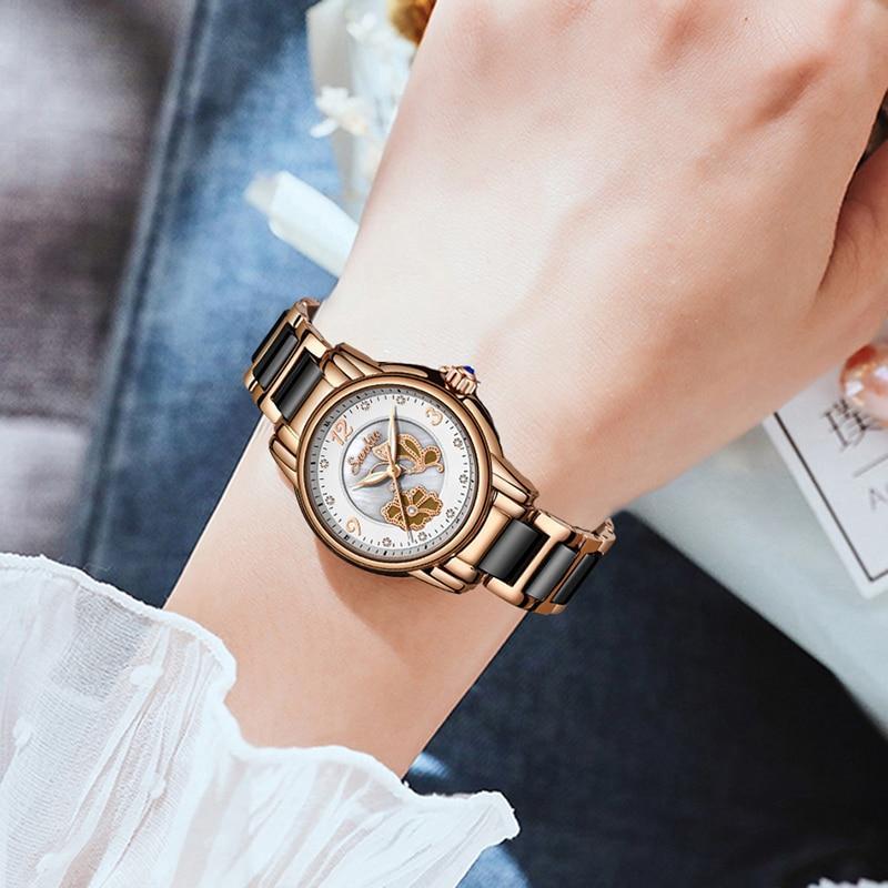SUNKTA2019 New Listing Rose Gold Women Watches Quartz Watch Ladies Top Brand Luxury Female Watch Girl Clock Relogio Feminino+Box