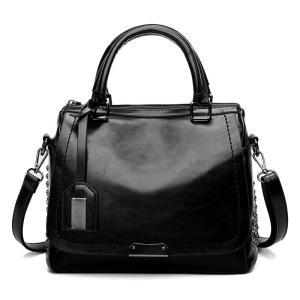 New Arrival Genuine Leather Bags Women Vintage Pillow Cow Leather Handbag Ladies Solid Casual Bolsa Feminina  C1038