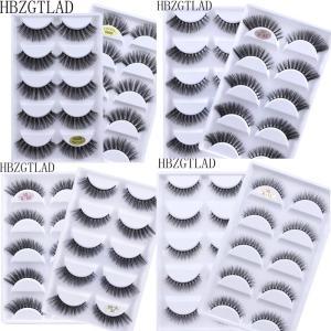 NEW 5 pairs Fake Mink Eyelashes 3D Natural False Eyelashes 3d Mink Lashes Soft Eyelash Extension Makeup Kit Cilios