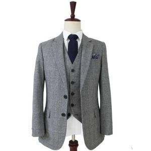 Free shipping Wool Grey blue Tweed Men Custom Made mens 3 piece suit tailor made slim fit suits for men Blazer(Jacket+Pants+Vest
