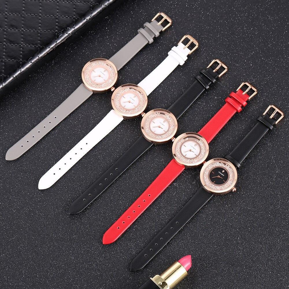 Cagarny Shining Diamond Women Watches Top Luxury Brand Ladies Fashion Simple Quartz Watch Ladies Clock Female Relogio Feminino