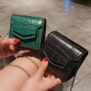 Mini Small Square bag 2019 Summer Fashion New Quality PU Leather Women's Handbag Crocodile pattern Chain Shoulder Messenger Bags