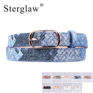 106x2cm Hot Sale Pu Girl Leather Belt Jeans Fine Belts For Women 2020 New female Designer Candy Color Painted belts Lady A103