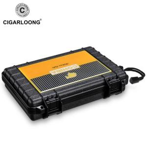 Portable Waterproof Travel Cigar Case Built in humidifier Dustproof Shockproof Cigar Holder moisturizing Storage Box Gift B0051