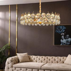 Branch-shaped led restaurant bedroom living room study staircase European-style simple European gold round crystal chandelier