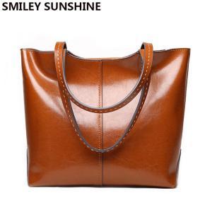 Cow Genuine Leather Ladies Shoulder Bags Big Women Leather Handbags Female Totes Hand Bags Designer Luxury Famous Brand Bag 2020