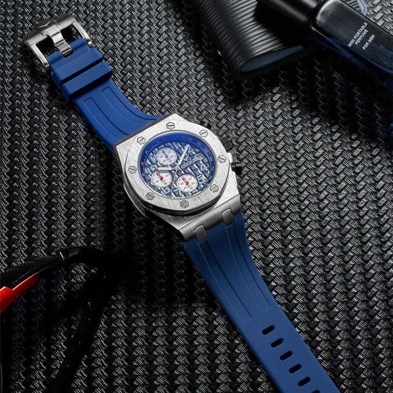 2019 ONOLA Luxury brand Fashion Sports Military Mens Watches Wristwatch clock metal Waterproof multifunctional quartz watch Men