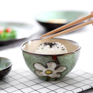 Kiln Glaze Japanese Ceramic Tableware Home Use Crockery Salad Bowl Spoon Steak Plate Set Dishes Hand Painted Floral Pattern