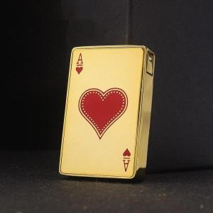 Personalized plastic playing card A electroplating inflatable open flame lighter creative product open flame lighter