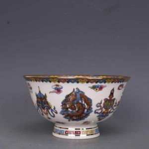 Antique Qing Qian Long  Jingdezhen Ceramic Decoration Bowl