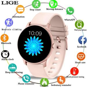 2019 New Color screen women sport smart watch Men women Fitness tracker For iPhone Heart rate blood pressure function smartwatch