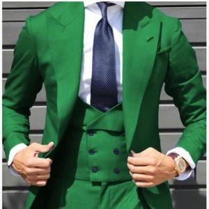 Fashion Bridegroom Men Suits With Double Breasted Vest Costume Homme Slim Fit Tuxedo dress