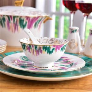 High-Grade Bone China Crown Coffee Cup Ceramic Tea Cups Dish With Gift Box Animal Tablewar Set Wedding and Housewarming