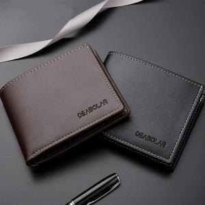 Men's Business Bifold Short Wallets Credit ID Card Holder Wallet Masculina Billetera Hombre Men Purse Male Money Slim Uomo Porte