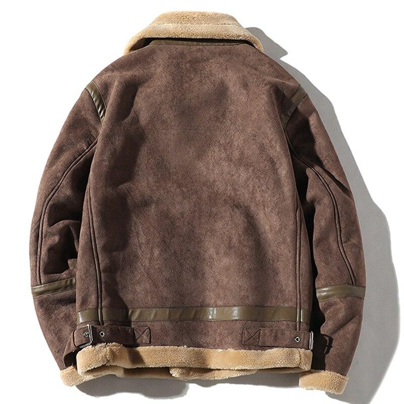 Vintage Bomber Mens Faux Fur Coats Winter 5XL Name Brand Mans Faux Fur Jackets Men Overcoat European Oversized Streetwear A861