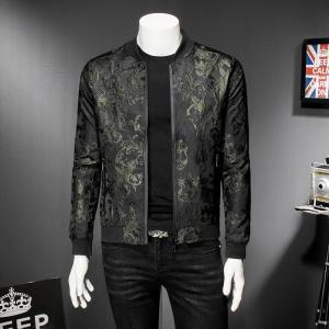 2019 Fall Paisely Floral Jacket Men Vintage Business Bomber Jacket Men Coat Windbreaker Clothes Men Vintage Jacket Coat 5XL