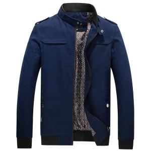 New Jacket Mens Autumn Solid Casual Cotton Trench Coat Male Winter Brand Overcoat Warm Casual Jacket Man Slim Fit Overcoat Men