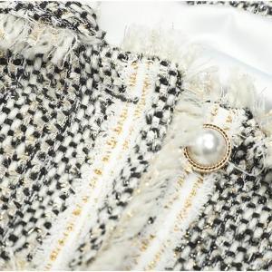 Women fashion tassel jacket luxury designer tweed jacket coat loose outwear female autumn coats Small fragrant wind clothes