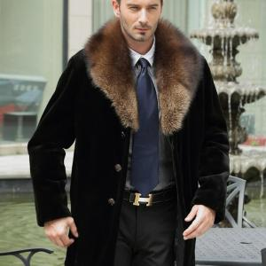 2019 autumn and winter new fur coat men's tidy long section mink leather leather large size imitation fur coat