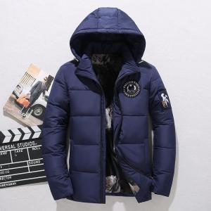 Winter Jacket Men White Duck Down Parkas Fashion Thick Warm Hooded Collar Windbreaker Down Coat Male Outwear Men's Parkas Jacket