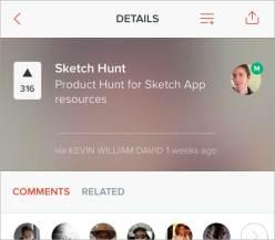 Sketch Hunt on the Product Hunt mobile app