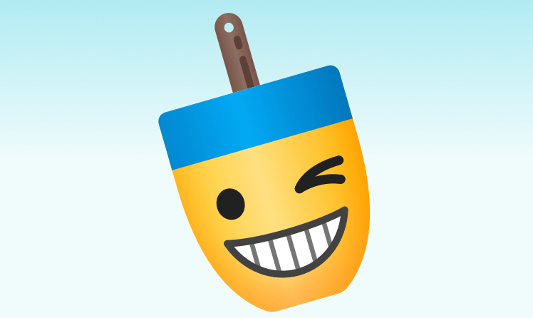 Buoymojis App Banner with winking emoji by James Young