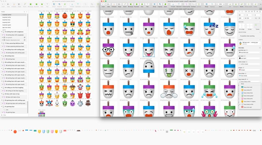 Buoymojis Stickers Design Concept