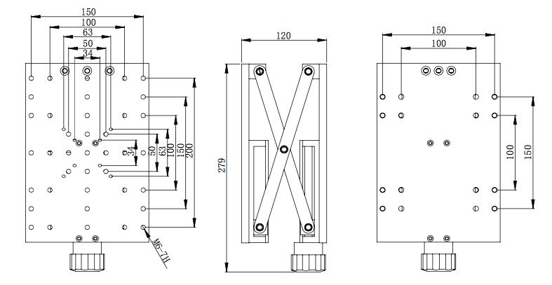 manual lab jack-Product Center-Beijing JY Instrument Co., Ltd-