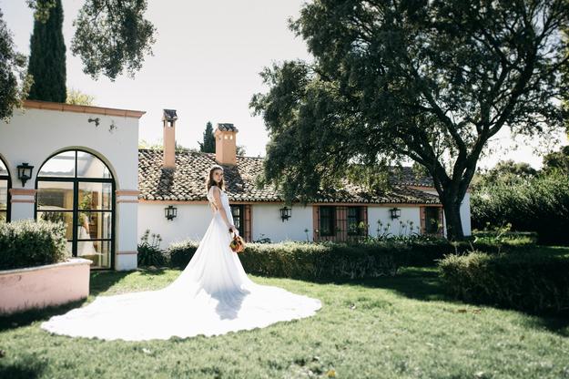 la novia en os jardines