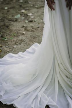 la cola del vestido