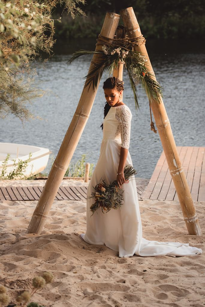 la novia sobre la arena