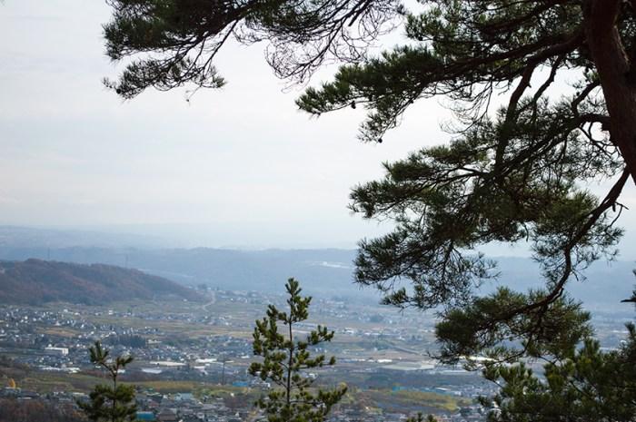 砥石城本丸からの眺め