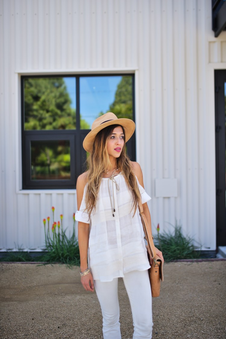 cuppajyo-sanfrancisco-fashion-lifestyle-blogger-bailey44-fancyfedora-weekendstyle-coldshoulder-whiteonwhite-1