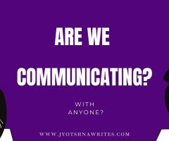Communication Is The Key: As Simple As That
