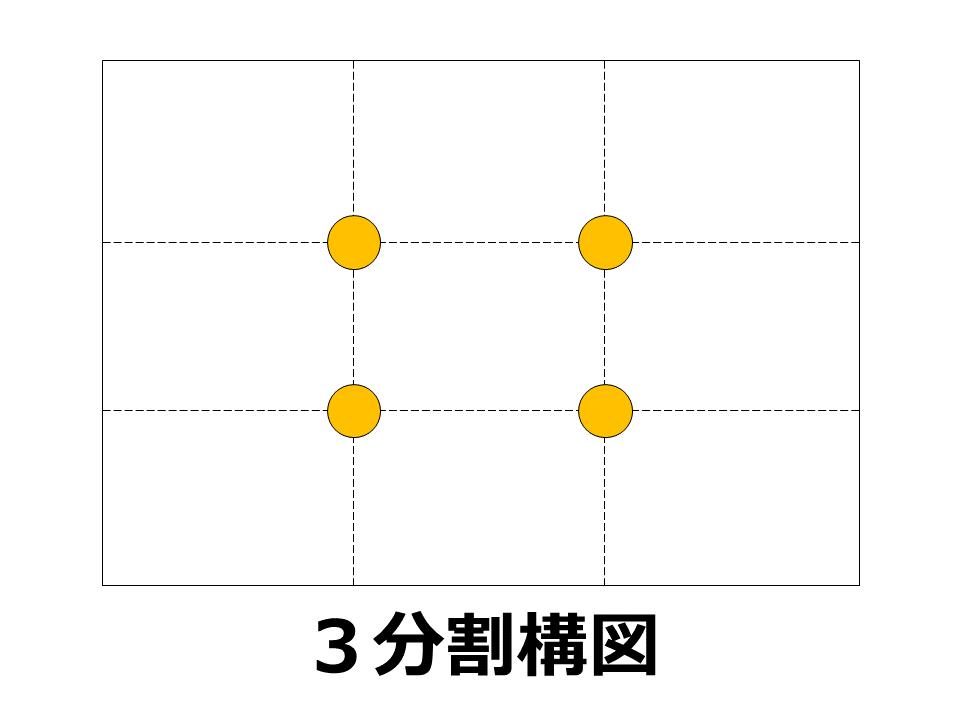 構図その3:【3分割構図】