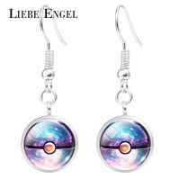2016 Cartoon Anime Crystal Pokemon Pokeball Drop Earrings