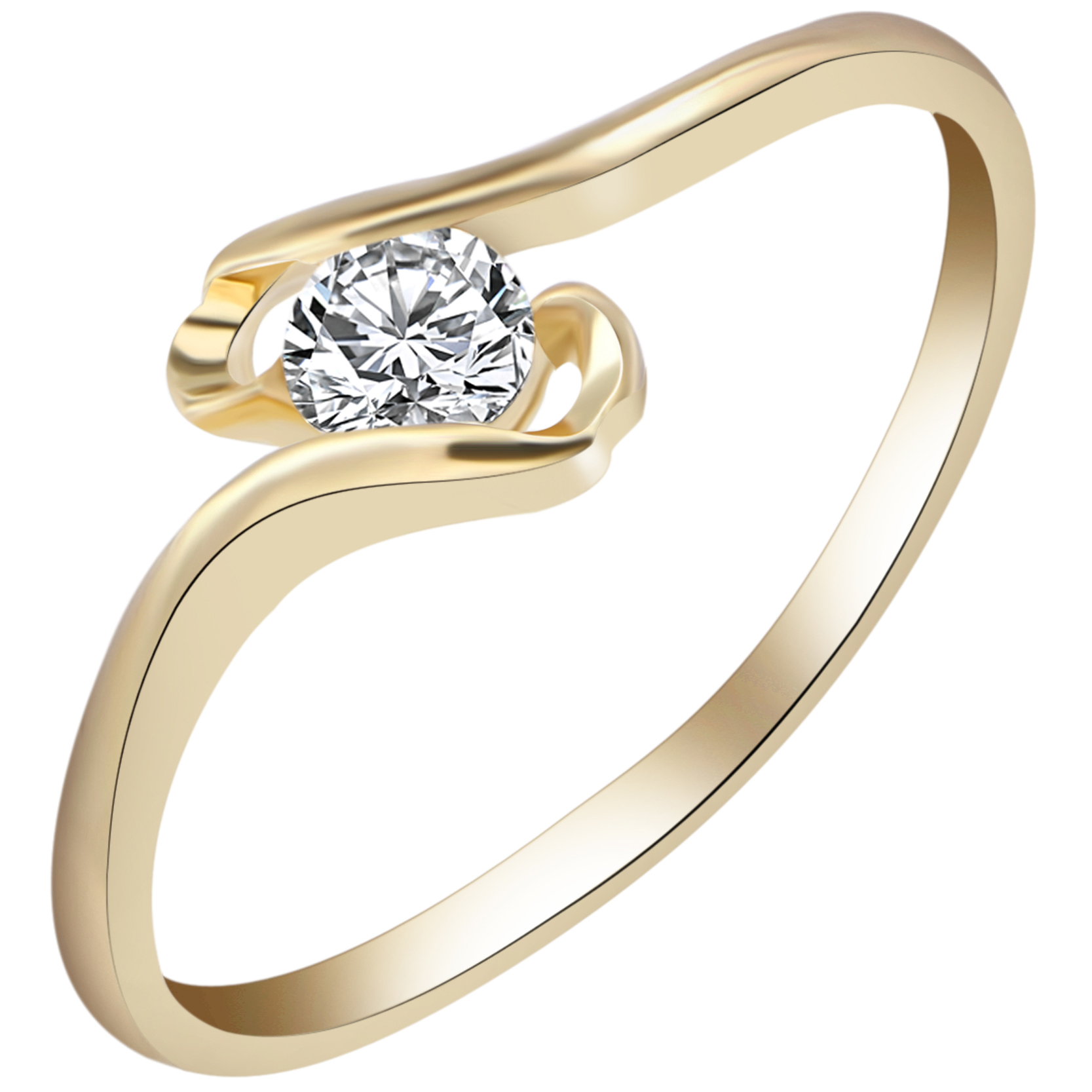 Women Shiny Gold Plated Rings Fashion Wedding Band Crystal Zircon Ring Jewelry  eBay