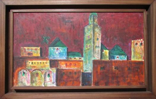 Ahmed Cherkaoui, Boujad, 1959, Huile sur toile, collection particulière