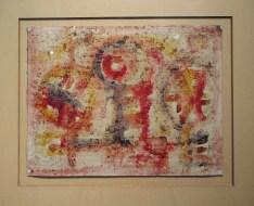 Ahmed Cherkaoui, Sans titre, 1964, Gouache sur papier, 29.8 x 38,8 cm, Collection Attijari Wafabank