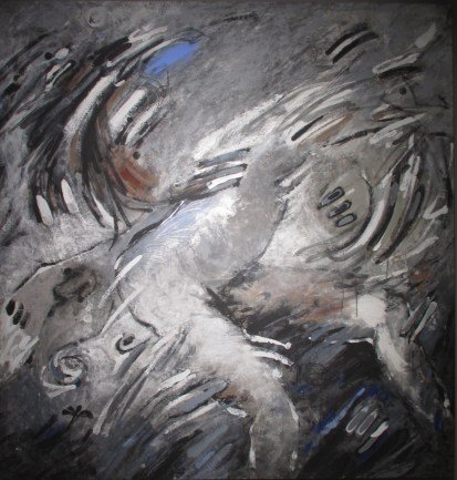 Mohamed KACIMI, Sans titre, 1987, Acrylique sur toile, 192 x 184,5 cm, Ministère de la Culture