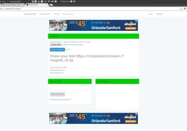 InstaTorrent Stream Sender