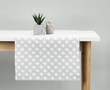 sofa table runners freedom brooklyn dimensions for your dining jysk patterned grey runner a room