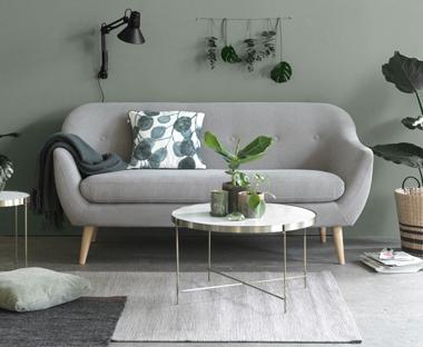 settee living room decor white walls sofas and lounge jysk home scandinavian dark grey sofa structured
