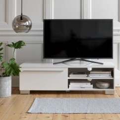 Tv Stand Living Room Wooden Floor Ideas Find The Unit For Your Jysk A White Bench Or Can Brighten Up