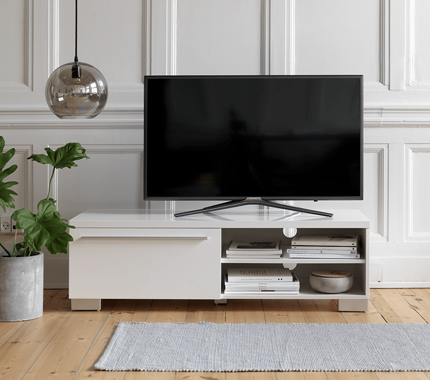 TV stand dcor Integrate your TV in the living room