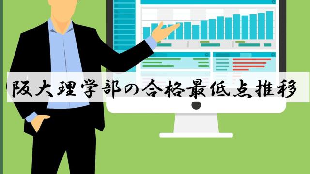 阪大理学部の合格最低点推移