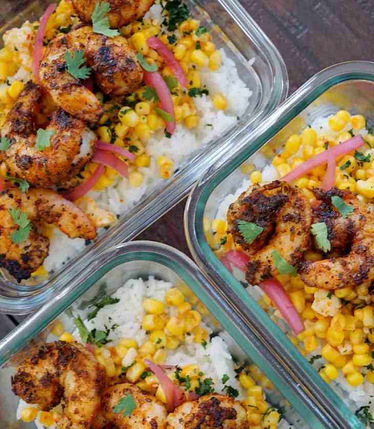 Blackened Shrimp Taco Bowl Meal Prep