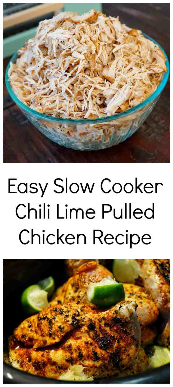 slow cooker chili lime pulled chicken