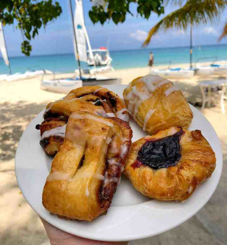 Fresh pastries at Couples Swept Away in Negril, Jamaica