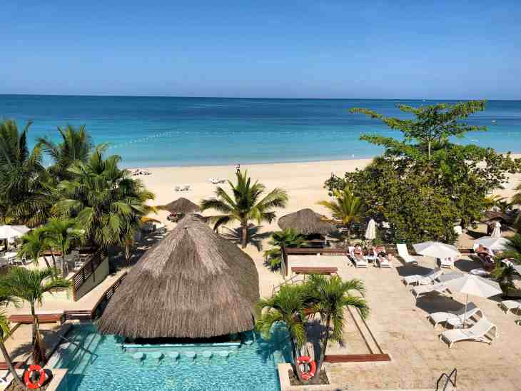View from the Great House Ocean Suite at Couples Swept Away in Negril, Jamaica